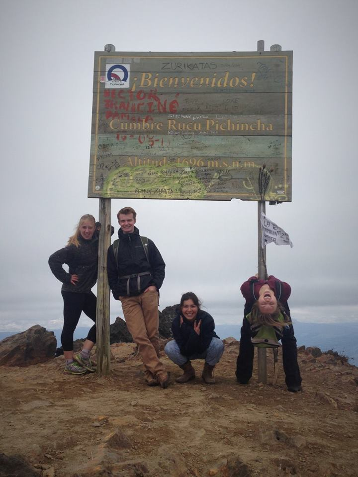 At the peak of Rucu Pichincha. Photo credit: Aimee Hoffman.