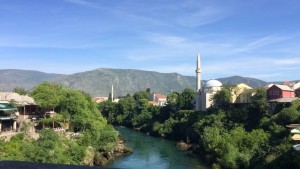 A view of the beautiful mountains surrounding Mostar.