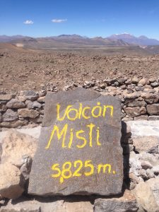 Misti Volcano, one of many in the Arequipa region