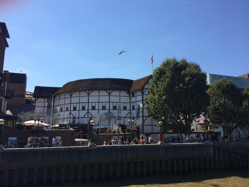 This was our view of The Globe from the Thames!