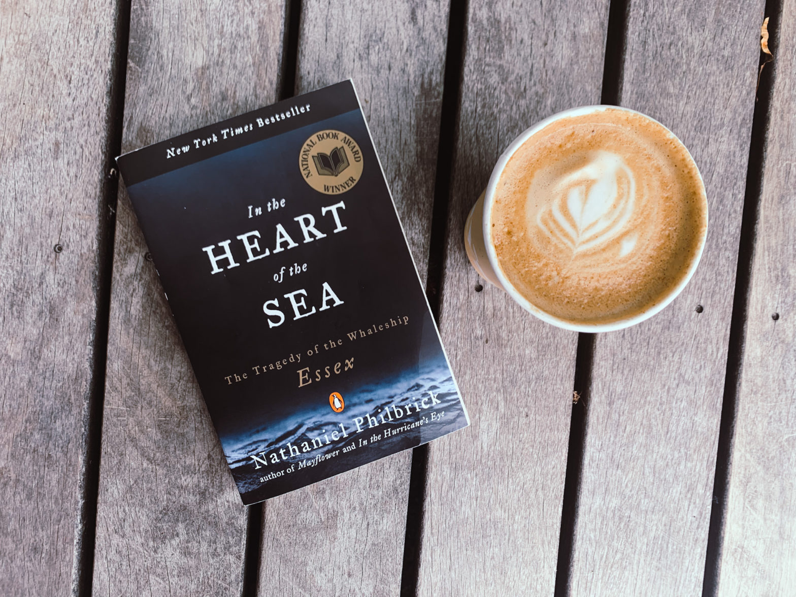 Heart of the Sea Book on table